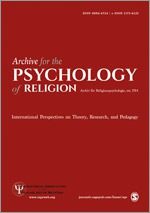 Archive for the Psychology of Religion cover