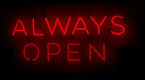 Always Open Logo