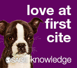 love at first cite SAGE Knowledge banner ad