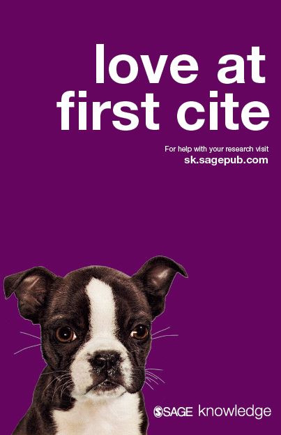 love at first cite - SAGE Knowledge - for help with your research visit sk.sagepub.com