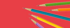 Image of pencils representing core academic skills