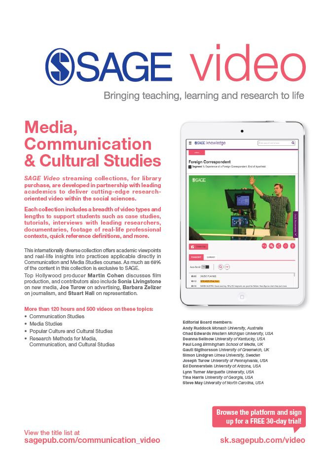 Image of SAGE Video Media Flyer