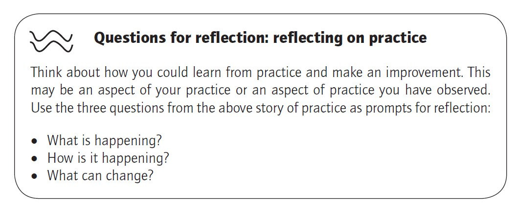 Elaine Hallet Early Years Practice Reflection Point