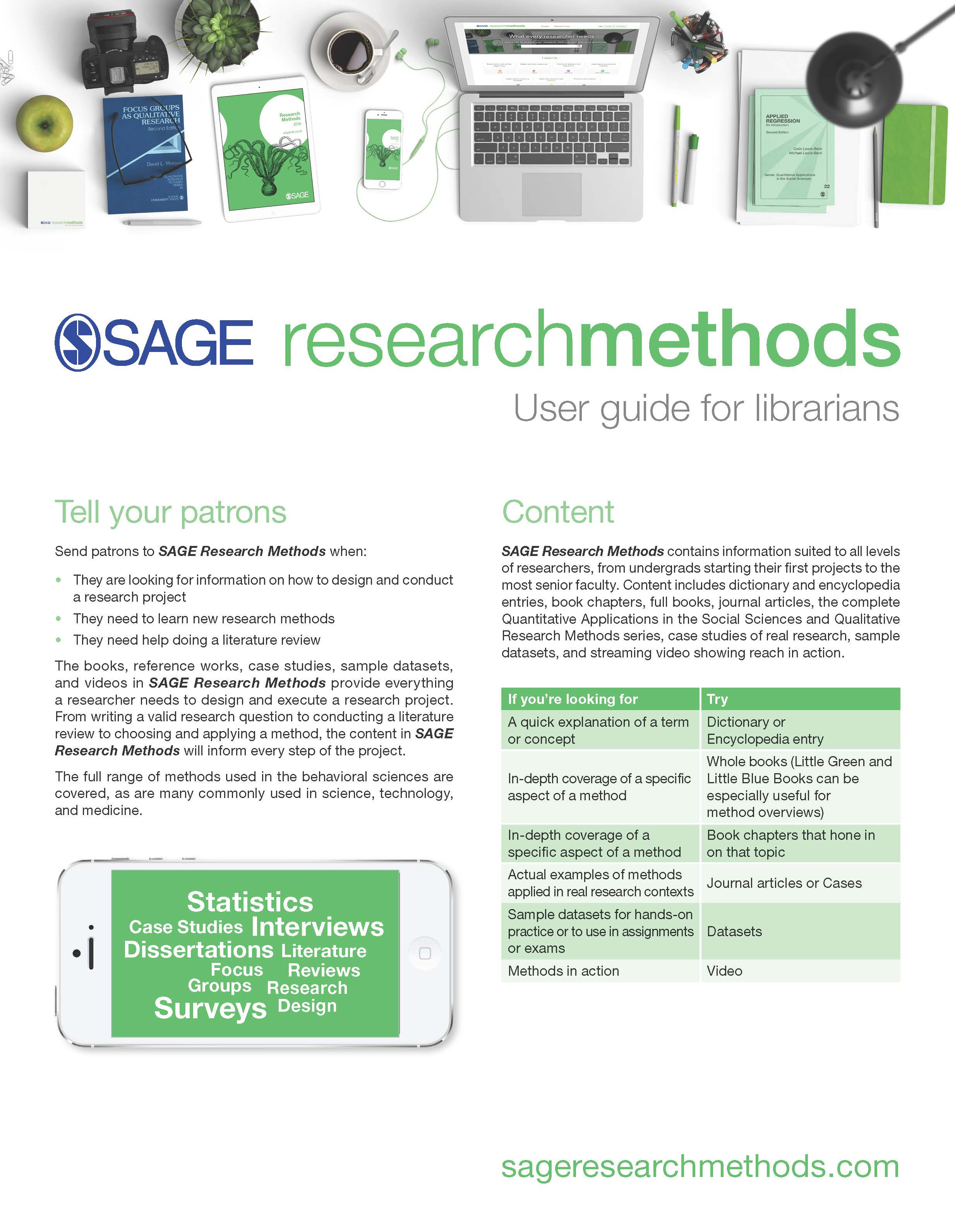 SAGE Research Methods for Librarians