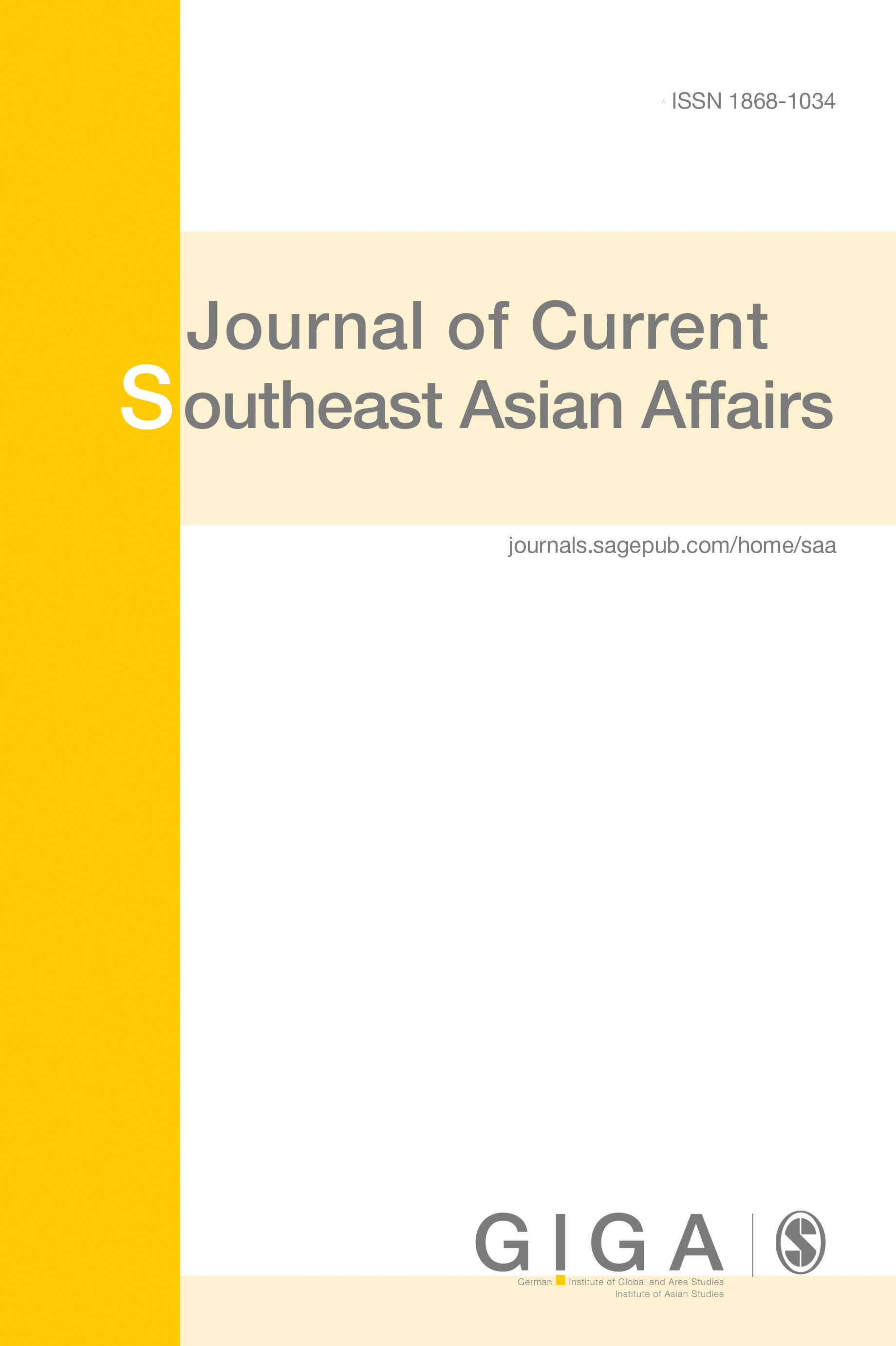 Journal of Current Southeast Asian Affairs