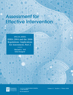 Assessment for Effective Intervention
