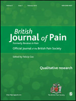 British Journal of Pain cover image