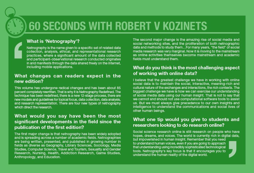 60 seconds with Robert V Kozinets