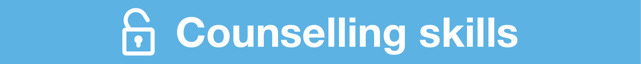 Counselling Skills Banner