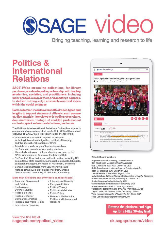 Image of SAGE Video Politics & International Relations flyer