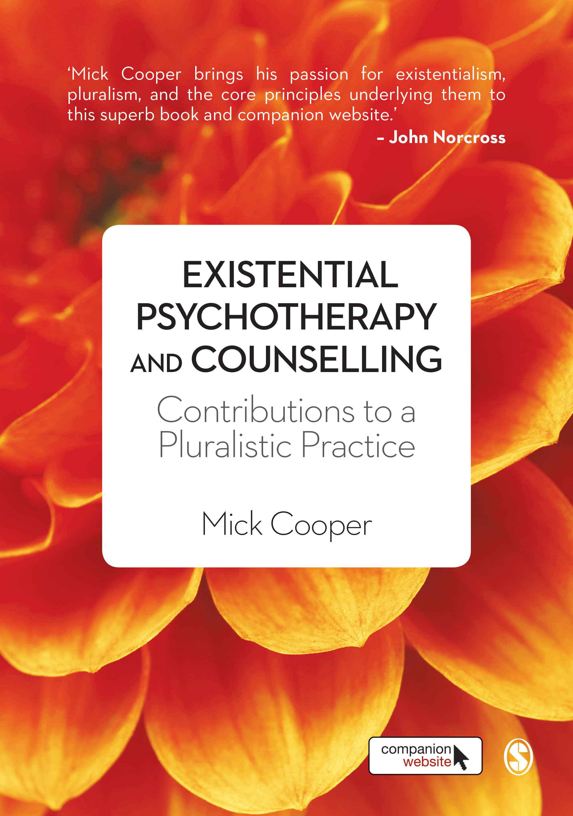 Existential psychotherapy and counselling book cover