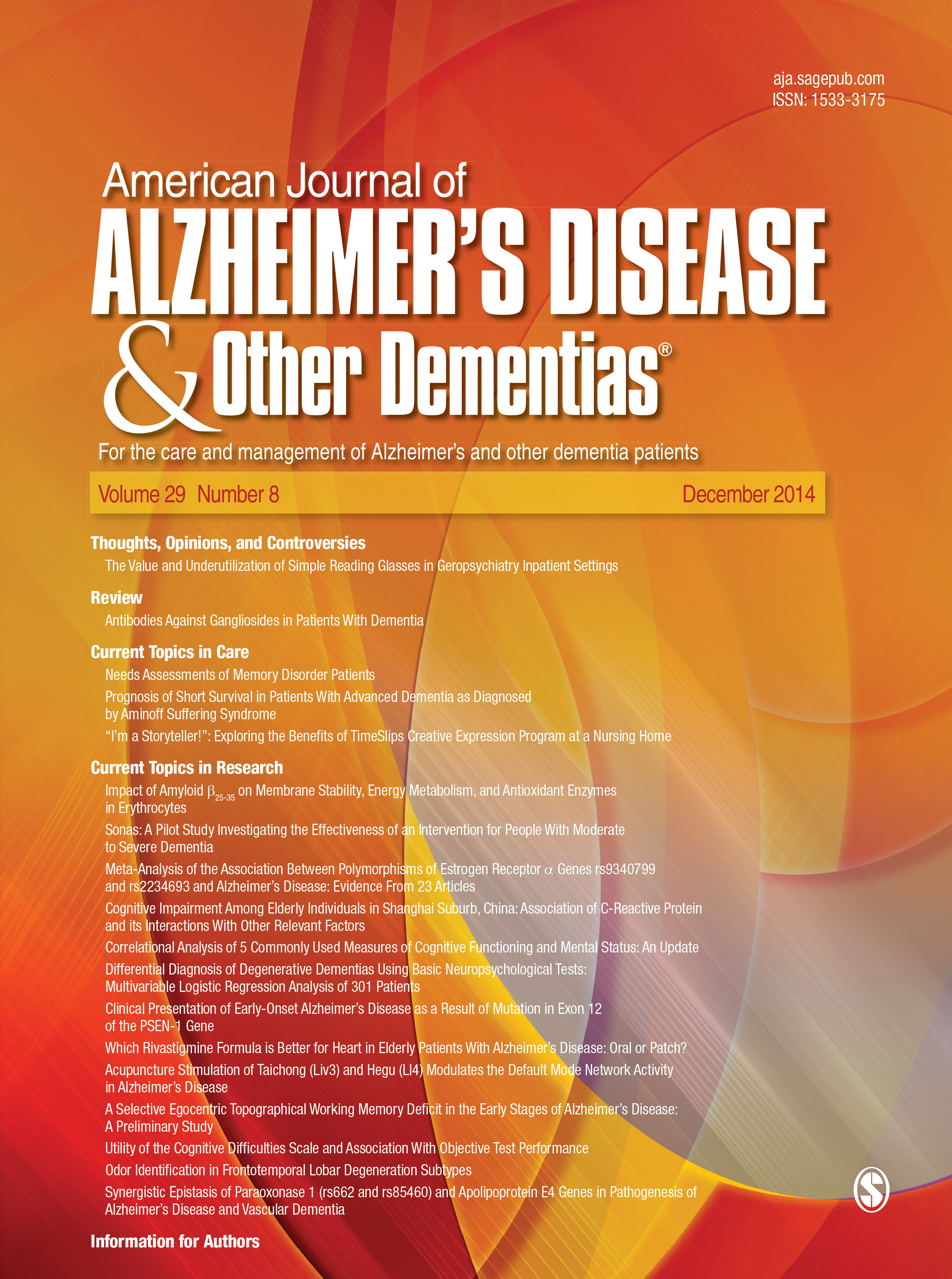 American Journal of Alzheimer's Disease & Other Dementias