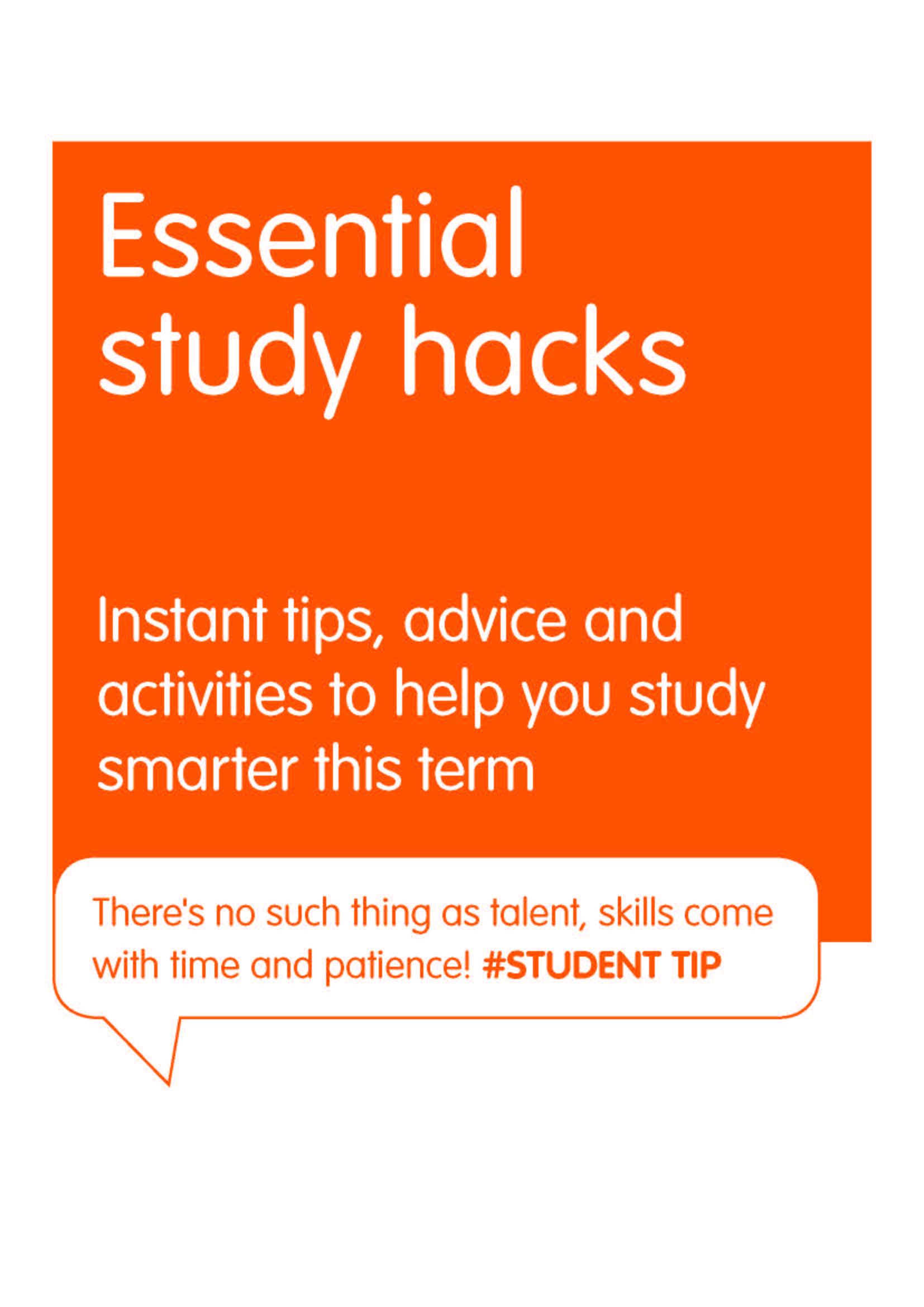 Download the free study hacks eBooks