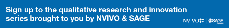 NVivo & SAGE Qualitative Research Innovation Series Banner
