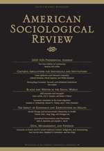 American Sociological Review cover