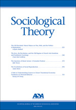 Sociological Theory cover