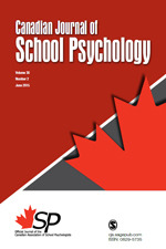 Canadian Journal of School Psychology