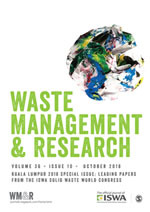 Image result for Waste Management and Research journal cover image